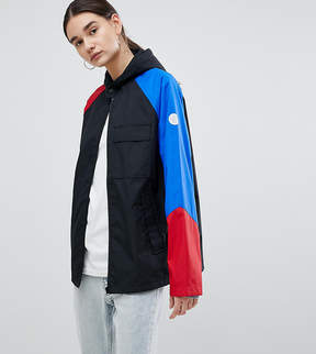 Converse Cons Skate Jacket In Black With Color Block Sleeve