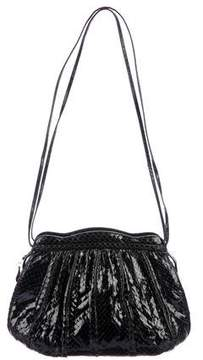 Judith Leiber Pleated Snakeskin Shoulder Bag