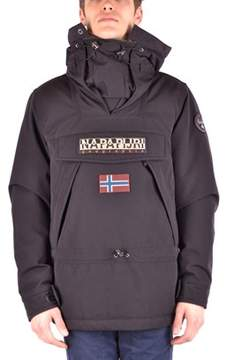 Napapijri Men's Black Polyester Outerwear Jacket.
