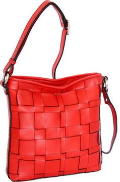 Nino Bossi Colleen Woven Leather Cross Body (Women's)