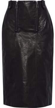 Belstaff Paneled Leather Skirt