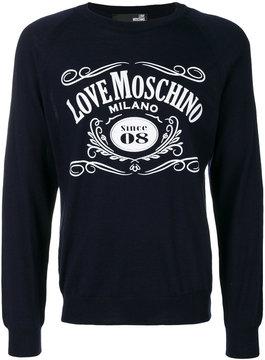 Love Moschino crew neck jumper