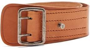 Saint Laurent Stitch-detail leather belt