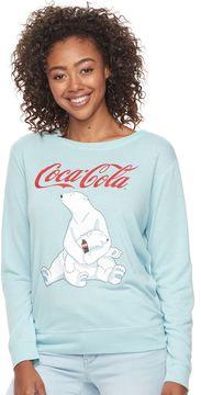 Fifth Sun Junior's Coca-Cola Polar Bears Crewneck Sweatshirt