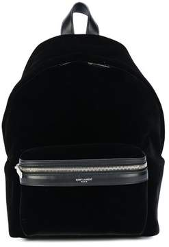Saint Laurent Women's Black Velvet Backpack. - BLACK - STYLE