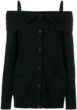 Prada off-the-shoulder cardigan