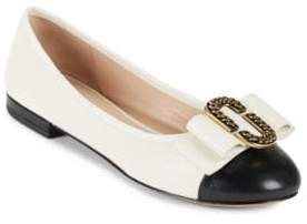 Marc Jacobs Interlock Bow Accented Flats