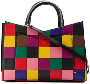 Sara Battaglia patchwork tote bag