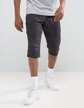 Brave Soul Biker Twill Shorts