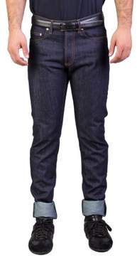 Christian Dior Men's Slim Fit Denim Jeans Pants Dark Blue