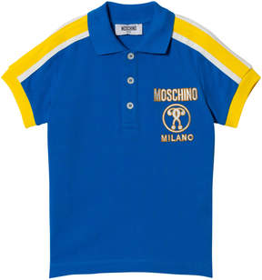 Moschino Blue Milano Branded Polo