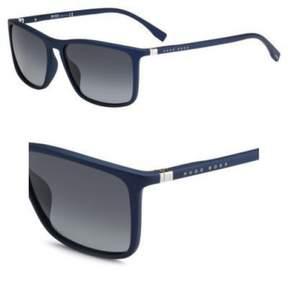 HUGO BOSS BOSS 0665/S V5QHD (Matt Blue with Black Gradient lenses)