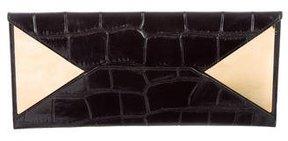 Gucci Crocodile Mirrored Clutch - BLACK - STYLE