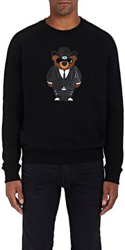 Ralph Lauren Purple Label Men's Bear-Patch Cotton-Blend Sweatshirt