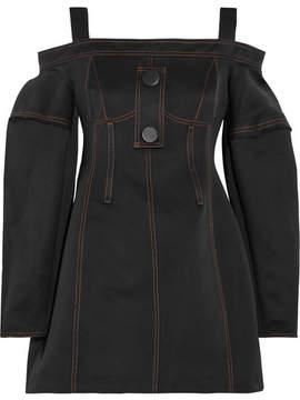 Ellery Bougie Cold-shoulder Twill Mini Dress - Black