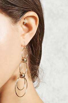Forever 21 Tiered Hoop Drop Earrings