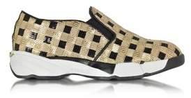 Pinko Women's Gold Sequins Slip On Sneakers.