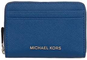 Michael Kors Elettric Blue Money Pieces Saffiano Leather Card Holder - BLUE - STYLE