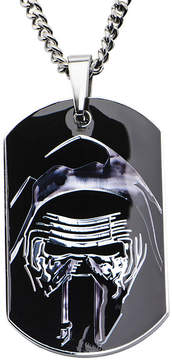 Star Wars FINE JEWELRY Episode VII Kylo Ren Mens Stainless Steel Dog Tag Pendant Necklace