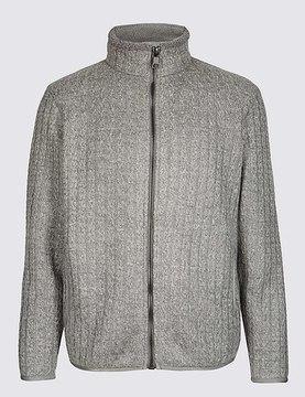 Marks and Spencer Textured Zipped Through Fleece Top