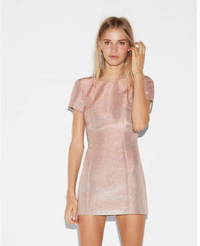 Express metallic short sleeve mini dress