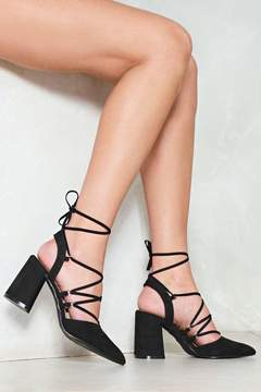 Nasty Gal nastygal Pump It Up Lace-Up Heel