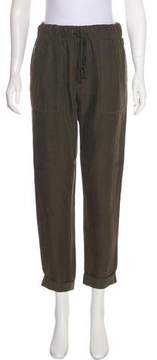 Enza Costa Cropped High-Rise Pants