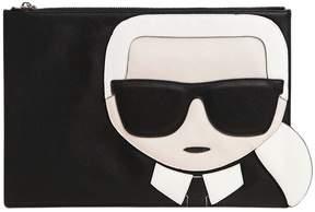 Karl Lagerfeld K/Ikonik Faux Leather Pouch