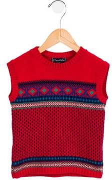 Oscar de la Renta Boys' Cable Knit Sweater Vest
