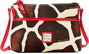 Dooney & Bourke Serengeti Ginger Small Crossbody - GIRAFFE/RED - STYLE