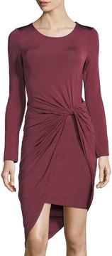Astr Janice Knotted Long-Sleeve Dress