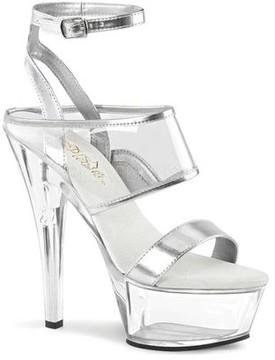 Pleaser USA Women's Kiss 260 Ankle Strap Sandal