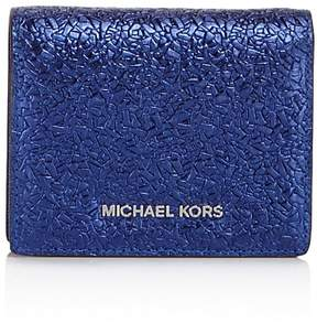 MICHAEL Michael Kors Flap Leather Card Case - 100% Exclusive - ELECTRIC BLUE/SILVER - STYLE