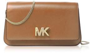 Michael Kors Mott Large Acorn Leather Clutch - BROWN - STYLE