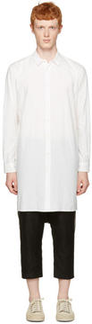 Robert Geller White Long Shirt