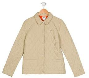 Lacoste Girls' Quilted Collar Jacket