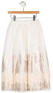 Billieblush Girls' Embellished Embroidered Skirt