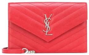 Saint Laurent Monogram Envelope leather shoulder bag