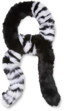 Adrienne Landau Women's Boa Striped Scarf