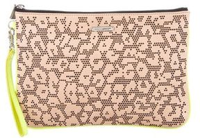 Rebecca Minkoff Perforated Leather Clutch - NEUTRALS - STYLE