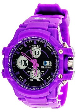 Everlast Analog and Digital Watch Purple