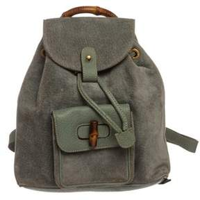 Gucci Blue Green Suede Mini Backpack. - BLUE GREEN - STYLE