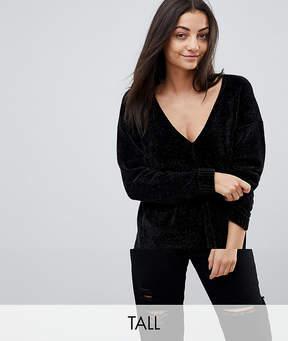 Noisy May Tall Knitted V Neck Sweater