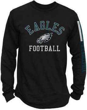 Authentic Nfl Apparel Men's Philadelphia Eagles Spread Formation Long Sleeve T-Shirt