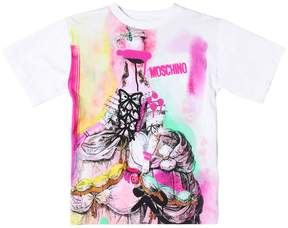 Moschino Marie Antoinette Cotton Jersey T-Shirt