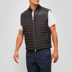 Kenneth Cole New York Pleather Pieced Vest