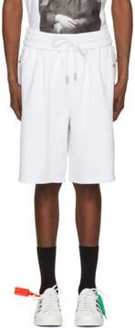 Off-White White Basic Logo Lounge Shorts