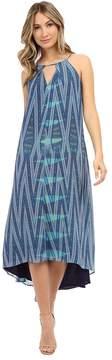 Adelyn Rae Printed Keyhole Maxi Dress Women's Dress