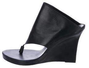 Ann Demeulemeester Wedge Thong Sandals