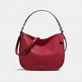 COACH COACH CHELSEA HOBO 32 - CHERRY/DARK GUNMETAL